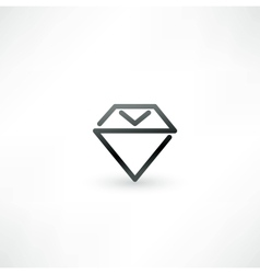 Diamond symbol design icon vector