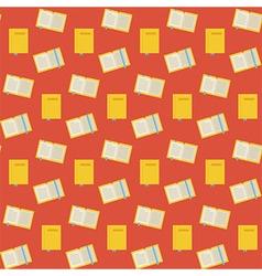 Flat Seamless Pattern Many Books vector image