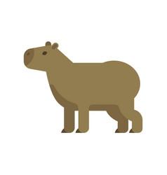 flat style of capybara vector image