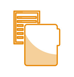 folder file with paper isolated icon vector image