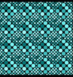 Geometrical teal seamless circle pattern vector