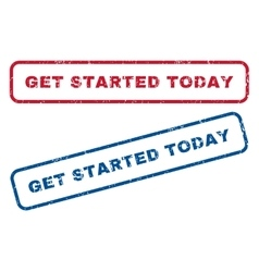 Get Started Today Rubber Stamps vector image