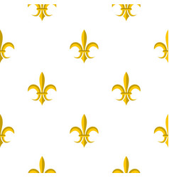 gold royal lily pattern flat vector image