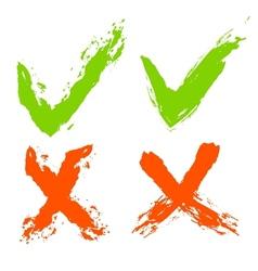 Grunge check marks vector