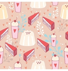 Hand drawn seamless background pattern Delicious vector
