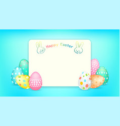 happy easter banner with copy space and easter vector image