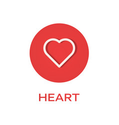 heart round flat icon love symbol vector image