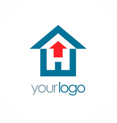 house arrow logo vector image