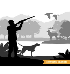 Hunting Silhouette vector