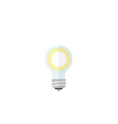 Isolated bulb flat icon lightbulb element vector