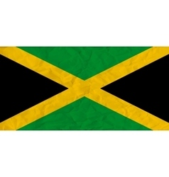 Jamaica paper flag vector