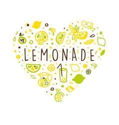 lemonade banner template and citrus vector image