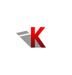 logo k with shadow i vector image