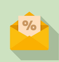 loyalty mail icon flat style vector image