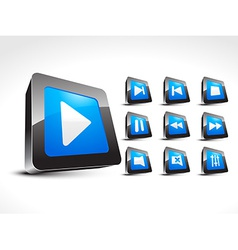 Media set music icons vector