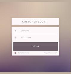 minimal login form template design for website vector image