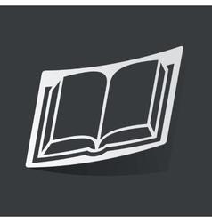 Monochrome book sticker vector