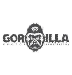 Monochrome with gorilla head vector