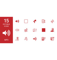 mp3 icons vector image
