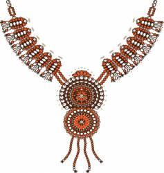 Necklace design vector
