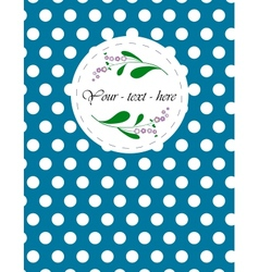 Nice card with pattern for your holiday vector image