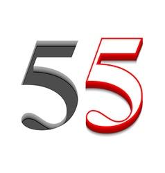 Number five design vector