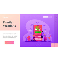 Online booking services landing page vector