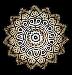 Ornate round greek mandala pattern floral greek vector