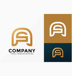 Premium a and s as logo design abstract vector