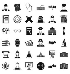 Reality icons set simple style vector