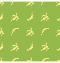 Seamless bananas pattern vector image