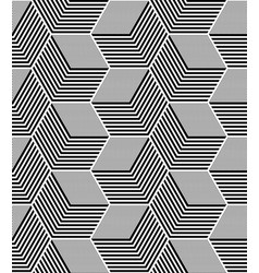 Seamless op art hexagons pattern vector