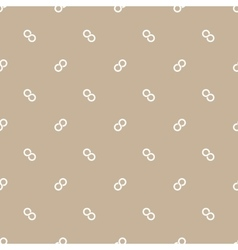Seamless pattern of infinity symbol vector