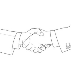 shake hands each other vector image