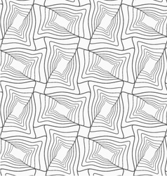Slim gray striped wavy rectangles with offset vector