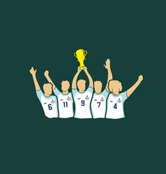 Soccer cup winners vector
