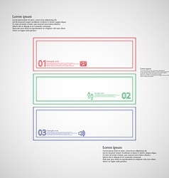 Square infographic template divided to three parts vector
