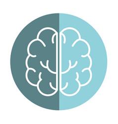 Sticker creative brain and mental healthy vector