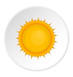 Sun icon cartoon style vector