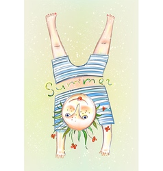 Sunbathing Child vector image
