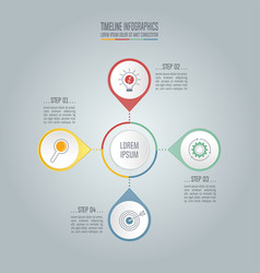 Timeline business concept with 4 options vector