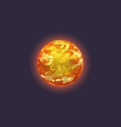 Venus planet in deep space icon vector