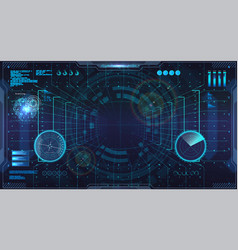 Virtual reality in hud style vector
