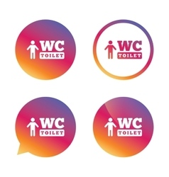 WC men toilet sign icon Restroom symbol vector image