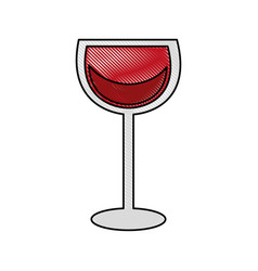 Wine glass in trendy flat style vector