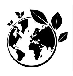 World environment day icon on white background vector