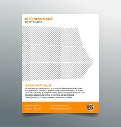 Business flyer template - stylish orange design vector image vector image