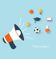Education concept with megaphone vector