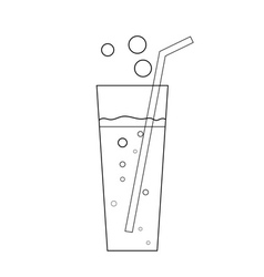 Glass soda icon transparent vector image