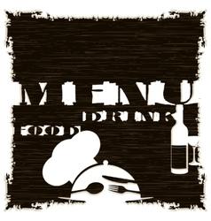 restaurant menu template pattern dark vector image vector image
